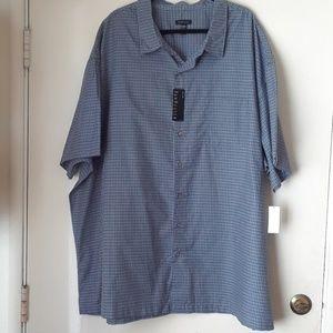 Mens Short sleeve button down shirt